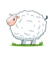 happy cartoon sheep vector image