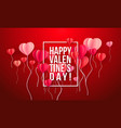 happy valentines day card paper art vector image vector image