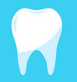 healthy tooth in blue background clean tooth vector image