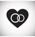 heart rings icon on white background for graphic vector image