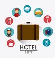 Hotel design vector image vector image