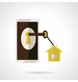 Housing agency icon flat style vector image