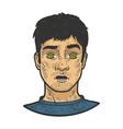hypnotized man sketch vector image vector image