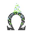 icons greek letter omega vector image vector image