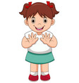 isolated cute girl waving hand vector image