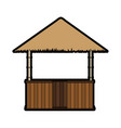 isolated hut design vector image