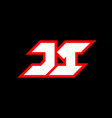 ji logo design initial ji letter design vector image vector image