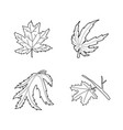 leaf icon set outline style vector image vector image