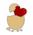 love eggs hatch sticker concept vector image