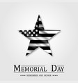 memorial day star and flag usa vector image