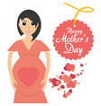 mothers day card mom pregnancy celebration heart vector image