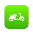 motorbike icon digital green vector image