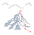 mountain business journey climbing route to peak vector image vector image