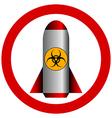 No biohazard rocket vector image vector image