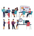 office workers business meeting and dealing vector image vector image