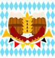 oktoberfest beer barrel banner vector image vector image