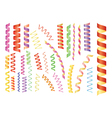 paper streamers vector image