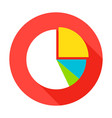 pie chart flat circle icon vector image
