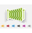 realistic design element xylophone vector image vector image