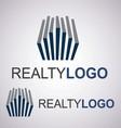 realty logo 4 3 vector image vector image