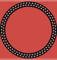 round frame with greek floral ornament vector image vector image