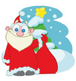 santa claus with a bag of gifts cartoon vector image
