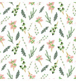 seamless pattern with herbs perfect for design vector image