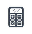 seo calculator glyph icon vector image