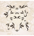set of elegant curls and swirls Elements vector image