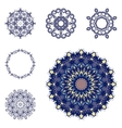 Set of six mandalas vector image