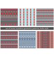 Set of Tribal Boho Seamless Patterns vector image