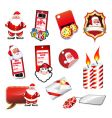 set of various Christmas elements vector image vector image