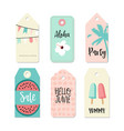 Set of vintage sale and gift tags and labels