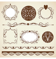 set ornamental design elements vector image