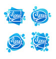 shiny and glossy clean lettering logo label or vector image vector image