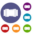 side release buckle icons set vector image vector image