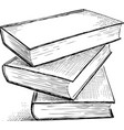 sketch of the books vector image vector image