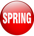 spring red round gel isolated push button vector image vector image