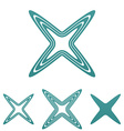 Teal line reject logo design set vector image vector image