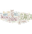 the power of backlinks text background word cloud vector image vector image