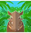 Wart-hog on the Jungle Background vector image vector image