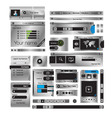 web design frame vector image