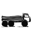 delivery service hand drawn truck international vector image