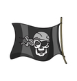 waving pirate flag jolly roger vector image