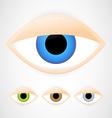 Set of eyes vector image