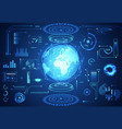 abstract technology ui futuristic concept world vector image vector image