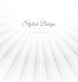 abstract white background with rays vector image vector image