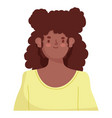 afro america woman vector image vector image