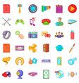 application for gadget icons set cartoon style vector image vector image