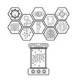 artificial intelligence icons vector image